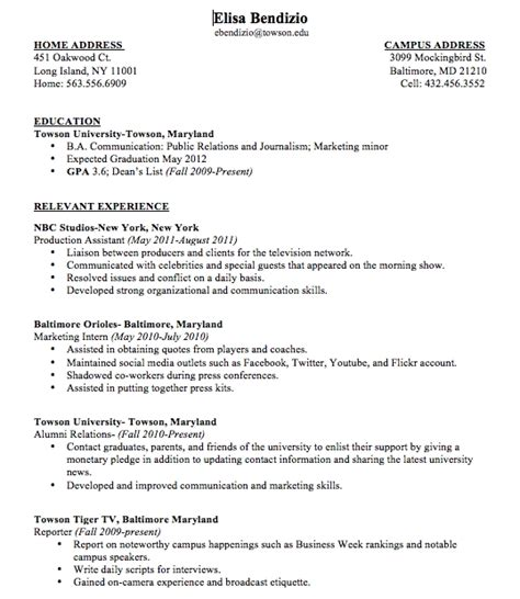 time resume with no experience sles