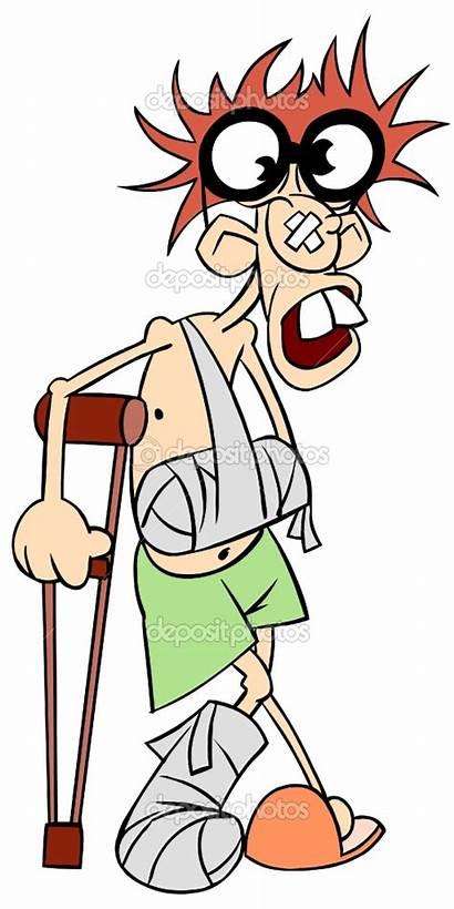 Broken Arm Crutches Leg Clipart Ill Clip