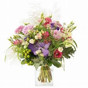 Bouquet De Fleurs Interflora : bouquet champ tre de fleurs vari es et orchid es aux teintes violette et rose interflora ~ Melissatoandfro.com Idées de Décoration