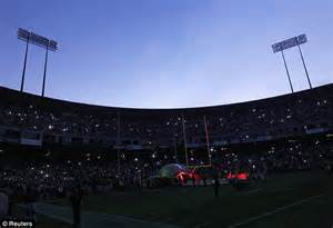monday night football delayed   power outage