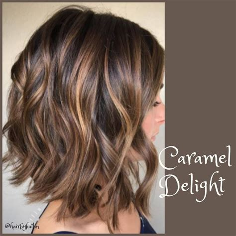 Brunette With Highlights Short And Medium Best 25 Short