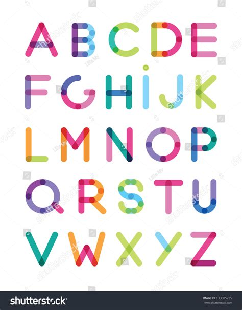 of all alphabet letters stock vector image 32655280 color alphabet stock vector 133085735