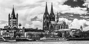 Skyline Bilder Schwarz Weiß : schwarz weiss k ln panorama bild moderne kunst aus der domstadt ~ Orissabook.com Haus und Dekorationen