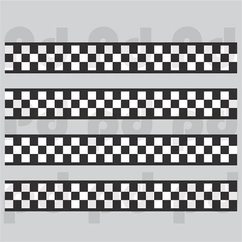 checkered flag border decal sports wall decal murals