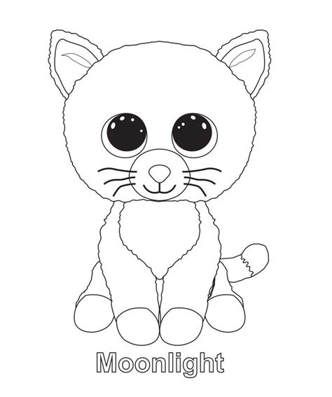 black  white beanie boo coloring sheets coloring pages