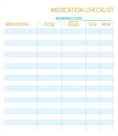 daily checklist template    word documents