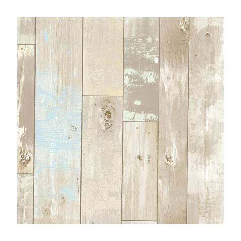 Provincial Wallcoverings Dean Neutral Distressed Wood