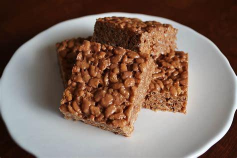 peanut butter treats chocolate peanut butter rice krispie treats little bitty bakes