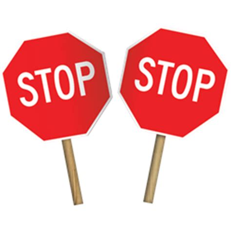 held stop signs 12 quot x12 quot two sided paddle stop signs adasigndepot