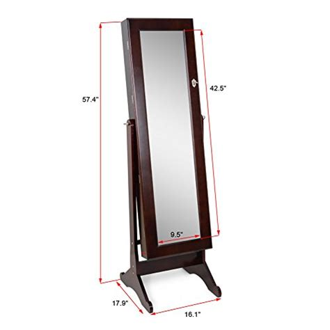 floor mirror jewelry storage cabinet elegant brown mirrored cheval jewelry armoire floor cabinet organizer zen merchandiser