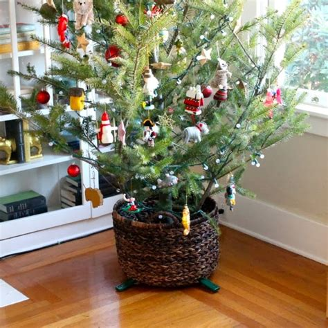 christmas tree basket stand make haus