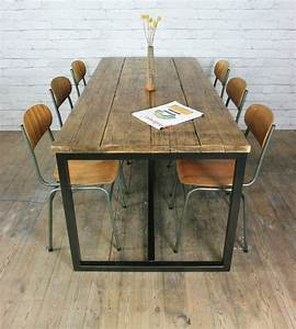 Vintage Industrial Möbel : vintage industrial steel rustic factory loft farm dining table office pinterest tisch ~ Markanthonyermac.com Haus und Dekorationen