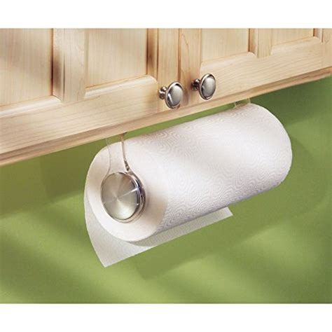 under cabinet towel holder interdesign forma paper towel holder for kitchen wall