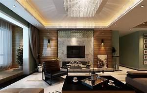 Modern bedroom TV desk and lighting | 3D House