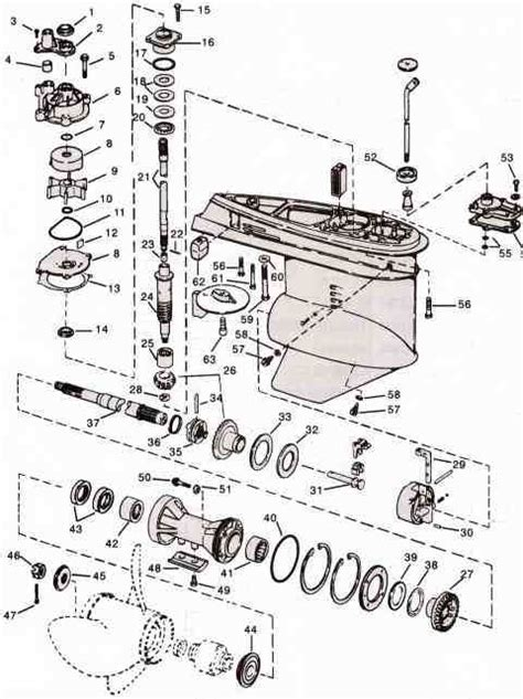 Mercury Snowmobile Wiring Diagram by Evinrude Johnson Outboard Parts V4 Drawing Jpg 480 215 642