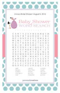 Free Printable Baby Shower Word Searches