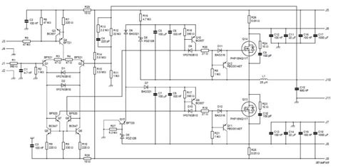 High Power Class Amplifier Schematic Circuit Diagram