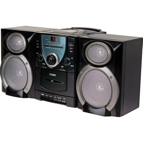 cd cassette recorder coby mini hi fi cd cassette player recorder cxcd400blk b h