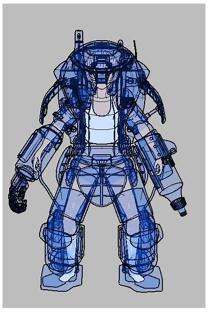 Armor Powered Exoskeleton Power Suit Robot Skeleton