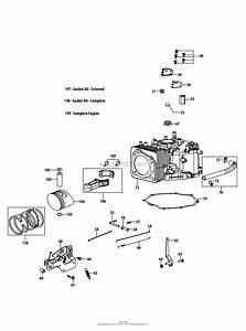 Troy Bilt 4p90jub Engine Parts Diagram For 4p90jub Crankcase