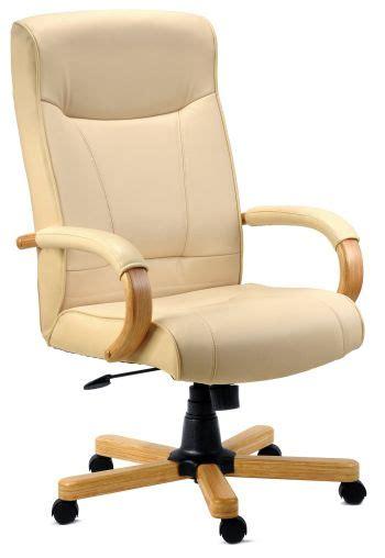 Leather club chair orren ellis body fabric: Knightsbridge High Back Cream Leather Executive Office ...