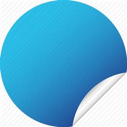 Round Label Sticker Blank Circle Icon Stickers