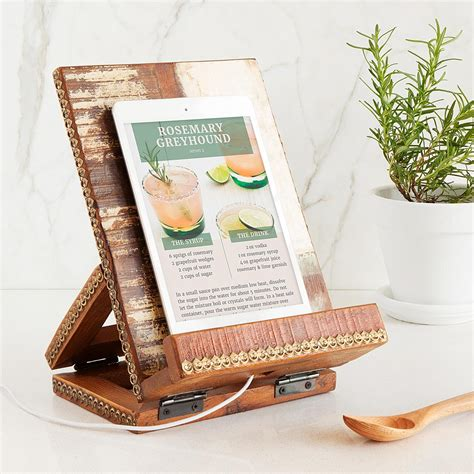 salvaged wood cookbook tablet stand cookbook holder