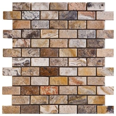 Scabos Travertine Subway Tile by Scabos Tumbled Travertine Tiles Modern Mosaic Tile