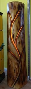 Lampe Aus Baumstamm : deko objekte lampe stammlampe beleuchtete skulptur baumstamm ein designerst ck von ~ Orissabook.com Haus und Dekorationen