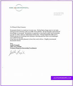 Download Letter Of Recommendation Samples