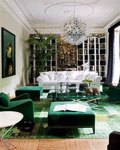 Canape Vert Emeraude : d coration int rieure salon living room color couleur vert green meraude v g tal ~ Teatrodelosmanantiales.com Idées de Décoration