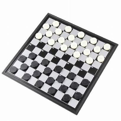 Draughts Chess Checkers Board International Plastic Magnetic
