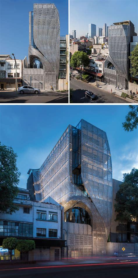 building  mexico city features  sculptural