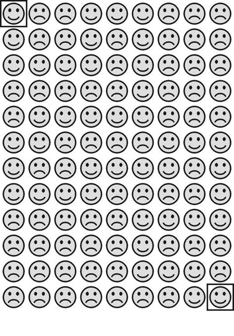 happy face hints maze  kids  visual perception