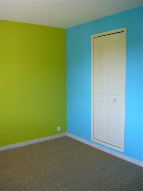 chambre peinte en bleu peinture et sols intérieur chambres orange