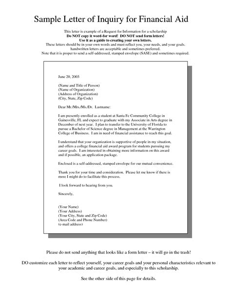 letter  request  financial assistance sample