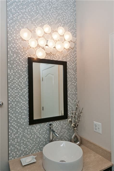 cool light fixtures exquisite powder room with tile accent wall installed by