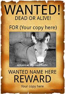 50 printable wanted poster templates free pdf psd designs for Sample wanted posters