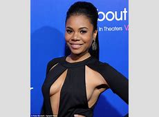 Regina Hall sports VERY revealing jumpsuit to About Last