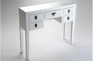Console Avec Tiroir : console blanche avec tiroirs pas cher ~ Teatrodelosmanantiales.com Idées de Décoration