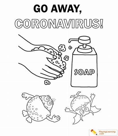Coloring Coronavirus Worksheets Sheet Drawings Learning Flu