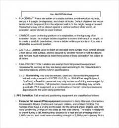 resume format word docx to pdf sle fall protection plan template 9 free documents in pdf word