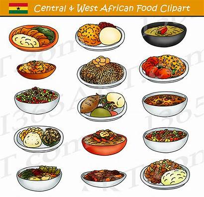 Clipart African Western Central West Cachupa Snack