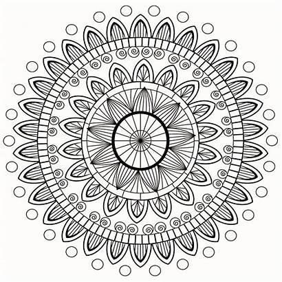 Mandala Mandalas Coloring Petals Stress Anti Zen