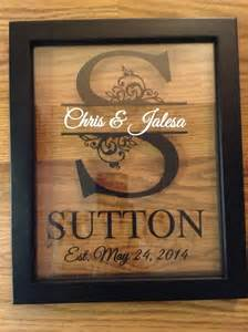 engraved wedding gifts personalized last name floating frame 8x10 on storenvy