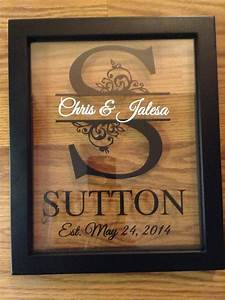 personalized last name floating frame 8x10 on storenvy With last name letters in a frame