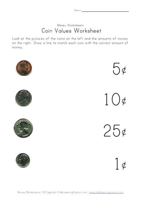 matching coin to value assessment classroom math pinterest coins for kids and badges