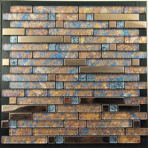 metal  glass gold stainless steel backsplash wall tiles