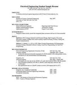 Resume Format For Freshers Civil Engineers Pdf by Sle Resume Fresher Engineering Student