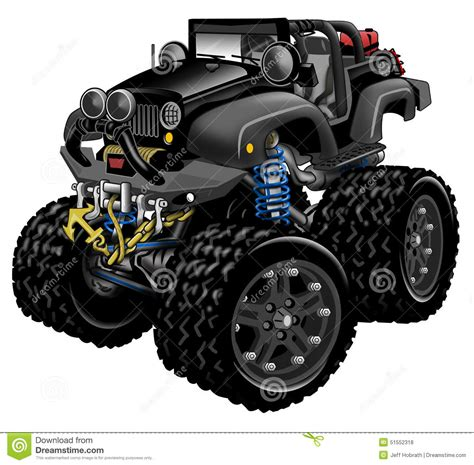 jeep cartoon offroad royalty free stock photos jeep 4x4 lifted offroad cartoon